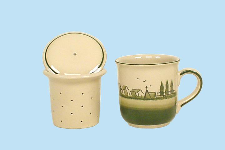 Rheinsberger Keramik Manufaktur - Teebecher mit Sieb und ...